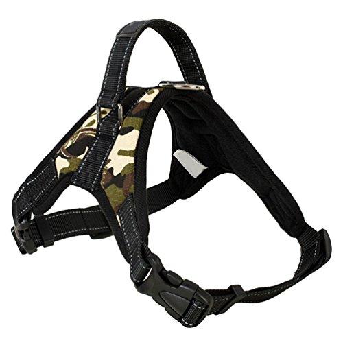 Yiiquanan Hundegeschirr Heavy Duty Mittlere/Große Hunde Geschirr Verstellbar Haustiere Vest Harness Ür Training Oder Walking (Grün#1, Asia M)