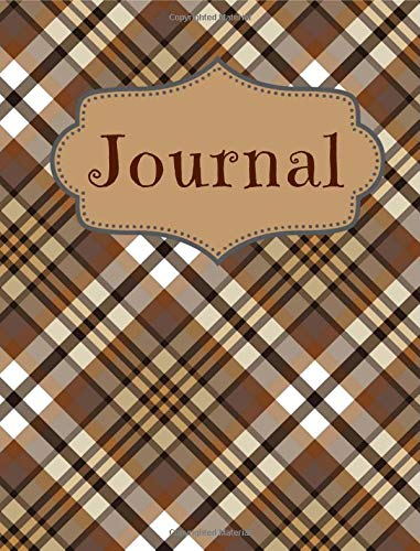 Tartan Coffee Color Notebook: For Coffee Lovers and Writers: Blank Lined Paper Notebook (6x9 inch - 70 Sheets/140 Pages) [then describe the image] Tartan Tee