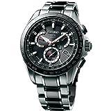 Seiko para hombre Astron GPS solar titanio doble tiempo reloj, SSE041