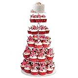 BATHWA Etagere 6 stöckig Tortenständer Tortenetagere Cupcake Ständer Hochzeitstorte für Hochzeit Geburtstag Deko