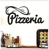 Pizzeria Mur Décoratif Stickers Pizza Creative Home Decor Vinyle Adhésif Amovible Stickers Muraux Cuisine Étanche Sticker 91 * 43 Cm