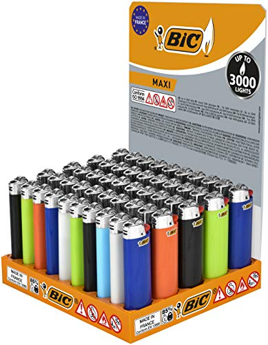 BIC Feuerzeuge J26 Maxi Neutral 50 Stück Display Collie Kollie