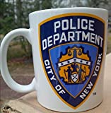 City of New York-Nypd Police Department 11 ml Kaffeebecher, Keramik Tasse in weiß