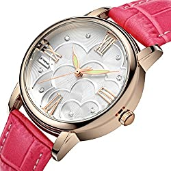 Ladies leather strap watch/Waterproof quartz watches/Simple casual female form-I