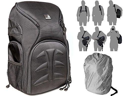 Bodyguard Outdoor Fotorucksack * Schnellzugriff * Stoß Protektor * Regenschutz * für mittlere bis große Ausrüstung + Daypack * SLR-Kamerarucksack für DSLR