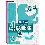 Oxford OpenFlex Lot de 4 Cahiers 96 pages Seyès 24 x 32 cm Couleurs Assortis