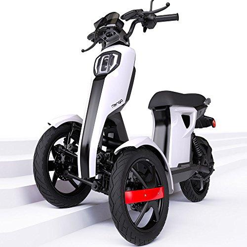 iTango Scooter electrico - Patinete eléctrico con Tres Ruedas APP Bluetooth (hasta 45 km/h) Blanco