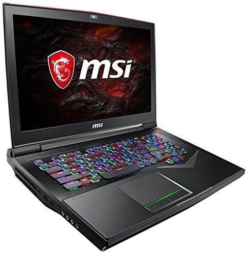 MSI GT75VR 7RF-033 Titan Pro (43,9 cm/17,3 Zoll/4K-UHD) Gaming-Notebook (Intel Core i7-7820HK, 32GB RAM, 512 GB PCIe SSD +  1 TB HDD, Nvidia GeForce GTX 1080, Windows 10 Home) schwarz GT75