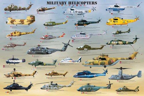 Empire - poster educativo elicotteri militari + accessori