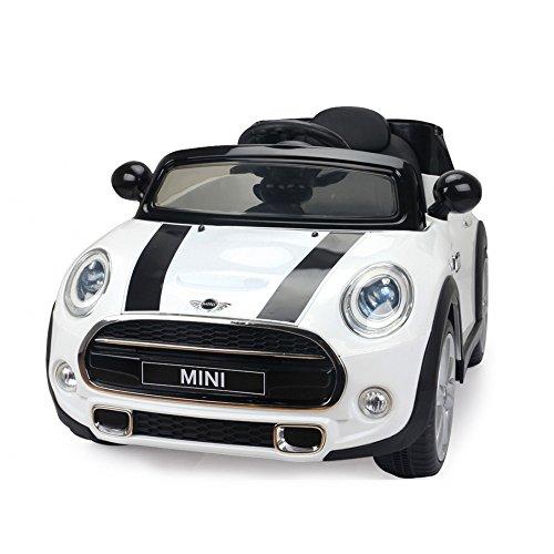 giordano shop Macchina Elettrica per Bambini 12V Mini Cooper Cabrio Bianca