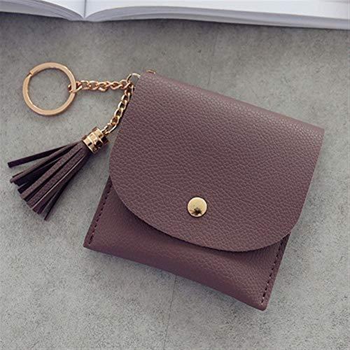YUEKUOO Kurze Brieftasche for Frauen PU Leder Casual Geldbörse (Color : Lila) -