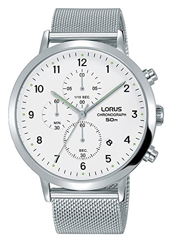 Lorus Mens Chronograph Quartz Watch with Stainless Steel Strap RM313EX9