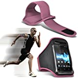 (Hellrosa) HTC One Mini 2 Universal Sports Armbänder Lauf Bike Radfahren Jogging und Fitnessstudio...