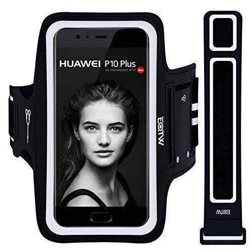 """EOTW Sportarmband Handyhülle universell passend für iPhone, Samsung, HTC, Huawei usw, Oberarmtasche In Verschiedenen Farben und Größen für Laufen (5.5"""" Schwarz)"""