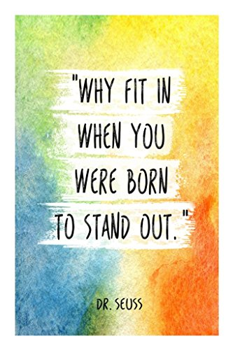 Virgin Trends Why Fit In When You Were Born To Stand Out Quote (18 inch x 12 inch)