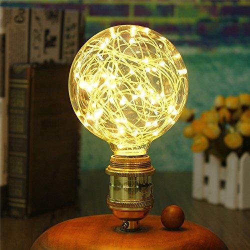 Paquete de 2 Iluminación Vintage, VSOAIR Bombillas LED con 3W G95 Vin
