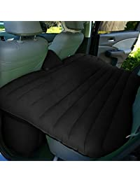 Automaze Car Travel Black Bed | Camping Travel Inflatable Bed, With 12V Dc Pump, Puncture Pads, Glue