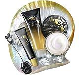 Avon Planet Spa Kaviar Gesichtspflege-Set Creme, Augengel-Maske & Abzieh-Maske straffend in weihnachtlicher Geschenktüte