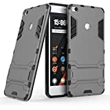 YGS™ Heavy Duty Double Layered Shockproof Armor Kickstand Mobile Back Case Cover (Grey) for Xiaomi Mi Max2
