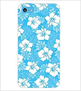 PrintDhaba Floral Design D-2068 Back Case Cover for APPLE IPHONE 5C (Multi-Coloured)