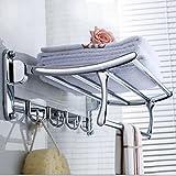 QUEEN'S European Retro Serviette Pliage en acier inoxydable bar salle de bain Accessoires Serviette moderne rack fine rack
