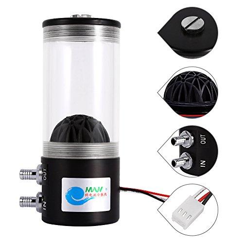 Pompa di raffreddamento ad acqua, Pompa Scambiatore di Calore Refrigerante Pompa Serbatoio di Acqua Pompa di Raffreddamento ad Acqua, 500L / H 10W DC12V, Per il sistema di raffreddamento della CPU