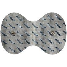 Electrodos cuello para Beurer Hydas y Vitalcontrol SEM 40//42 /43/44, almohadillas conexión con botón 3,5mm