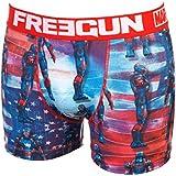 Freegun - Pat rouge/blc boxer - Sous vêtement boxer