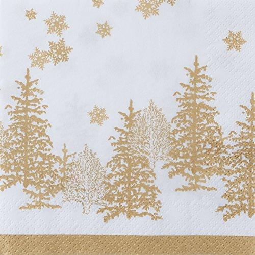 & Schneeflocken gold / Weihnachten 33x33cm (Günstige Schneeflocke Dekorationen)