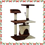 Wellhome Cat Tree Cat Tower Cat Scratch Post Activity Centre Sisal Covered 95cm