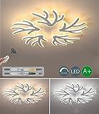 LED Deckenleuchte Modern Kreativ Einfach Design, Deckenlampe Dimmbar Mit Fernbedienung, Deckenbeleuchtung Für Wohnzimmer Schlafzimmer Esszimmer, Eisen Acryl Lampe, 120W D78cm 230V 3000K-6000K