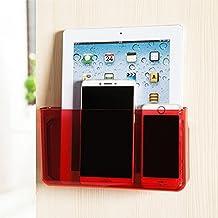 apsoonsell Universal de pared para TV/Aire Acondicionado Mando a distancia Medios organizador caja de almacenamiento, plástico, Rojo, Large
