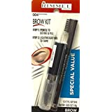 Rimmel Brow Kit Special Value, Clear Styling Gel & Eyebrow Pencil,004 Black Brown by Rimmel