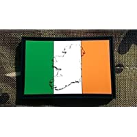 Bandera de Irlanda Airsoft PVC relieve parche