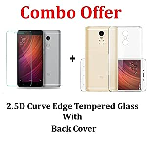 Redmi Note 4 Back Cover + Tempered Glass [Combo Pack]