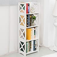 UNKU Dline - White Wood&Plastic Storage Shelf - Bookcase