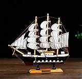 QAQ Simulazione in Legno massello Barca a Vela Modello Decorazione Decorazione d'interni per la casa Display imbarcazioni a Vela in Legno Compagni di Laurea Regalo di Laurea