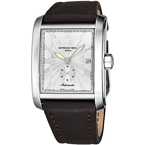 Raymond Weil Men's 46mm Calfskin Band Steel Case Automatic Watch 2875-STC00658