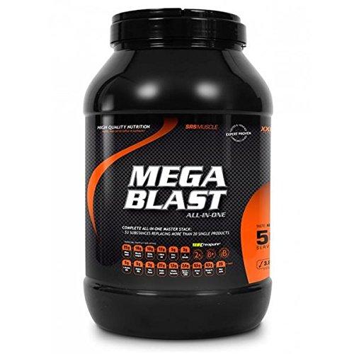 SRS Muscle - Mega Blast XXL, 3.800 g, Red Berry | Complete All-in-one Master Stack | ersetzt über 20 Einzelprodukte | entwickelt und hergestellt in Deutschland mit Premium-Rohstoffen -