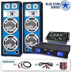 Pack DJ PA sono 2 enceinte 4 sub ampli rack MP3