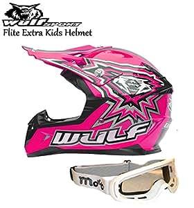 WULFSPORT FLITE XTRA KIDS HELMET Motorbike Quad MX Sport ...
