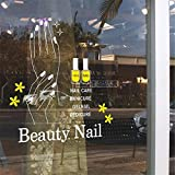 autocollant mural stickers muraux chambre Nail Art Autocollant Salon De Beauté Bussines Heure Decal Boutique Magasin Busines Mur Art Autocollant Decal Pour Nail Salon
