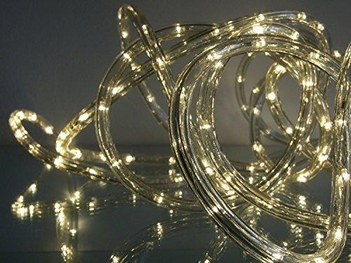 LED Lichtschlauch 50m Farbe warmweiß innen außen von Gartenpirat®