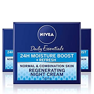 Nivea visage – Crema de noche regeneradora, pack de 3 (3x 50 ml) – Version importada (UK)
