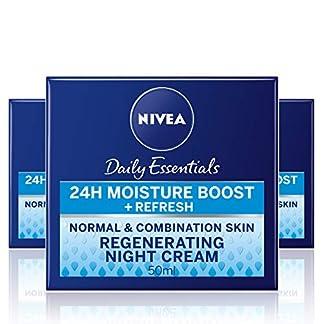 NIVEA Cuidado de Noche Regenerador, crema hidratante de cuidado facial, crema de cara regeneradora para piel de normal a mixta, 24h boost de hidratación – 1 x 50 ml