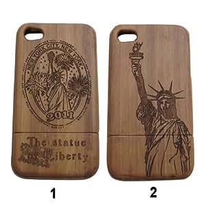 Sculpture sur bois Déesse gratuit Housse conception spéciale pour l'iPhone 4 4S: Couleur: 1