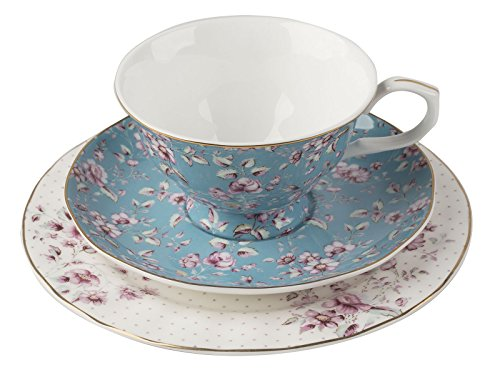 Katie Alice Petites Fleurs Bleu Sarcelle Ensemble de thé