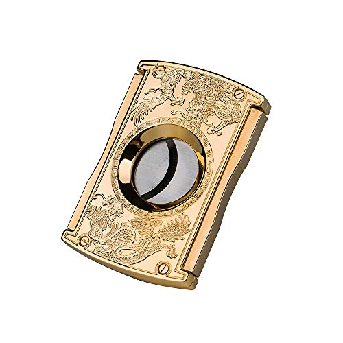 Fashon Cigar Cutter Stainless Steel Double Blade Guillotine Scissors Pocket Size Smoke Knife -