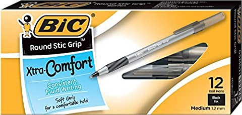 BIC Stic Grip m 12 Count schwarz