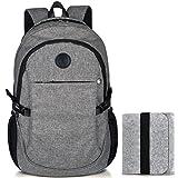 Laptop Rucksack, 15,6' College Schul Rucksäcke mit Filz Beutel Tasche von SnowOne